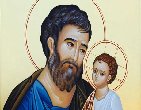 St. Joseph and the Christ child. Credit: Fr. Donald Calloway